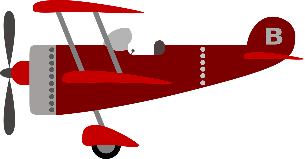 children's plane, red, kids