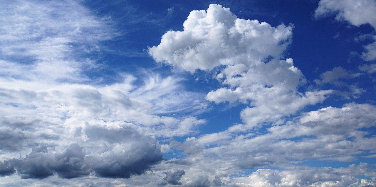 clouded sky, sky, clouds