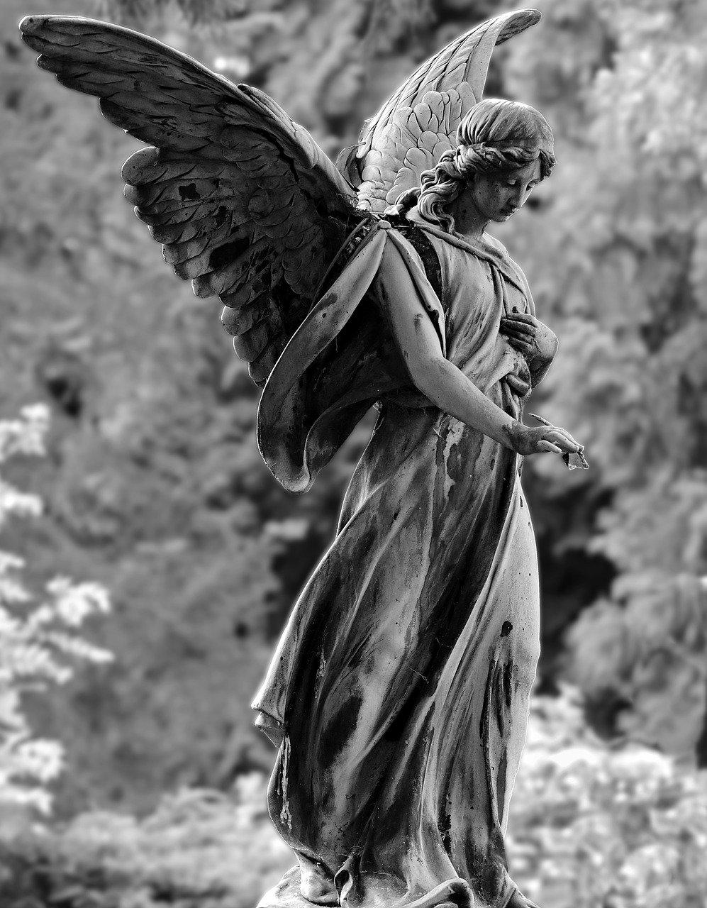 angel, statue, figure