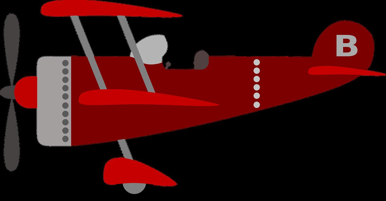 children's plane, red, kids