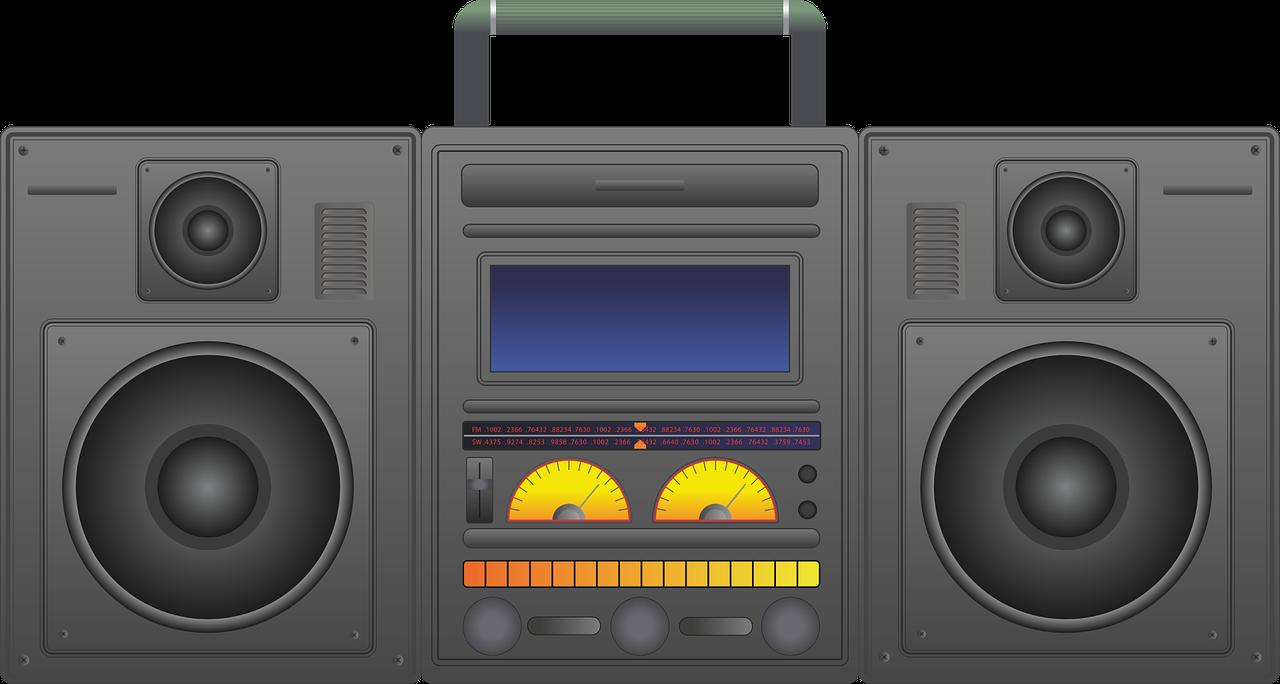 boombox, ghetto blaster, audio player